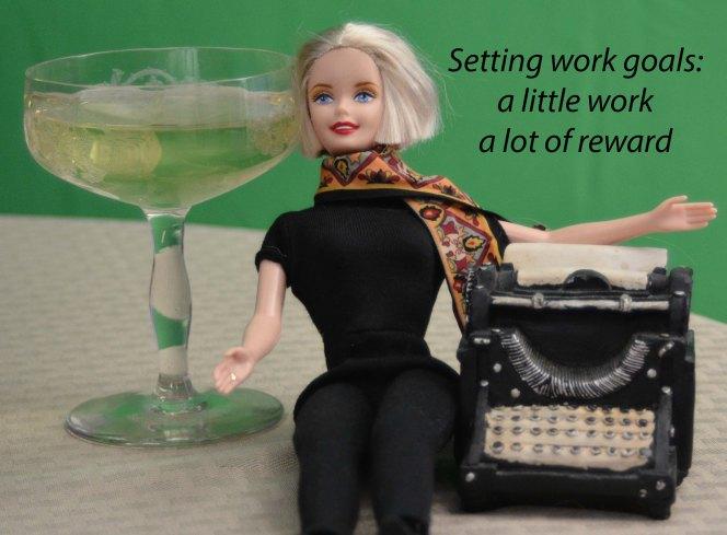 writer barbie green screen